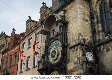 Prague Astronomical Clock Orloj in the Old Town cneter of Prague