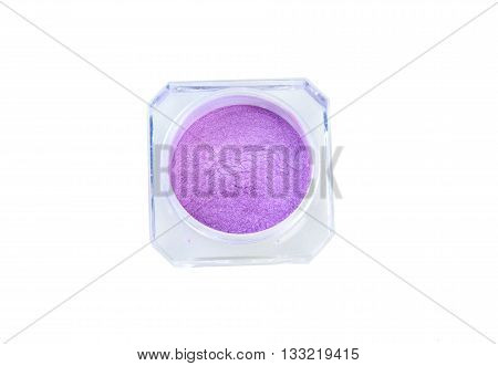 Eye shadows violet in box isolated on white