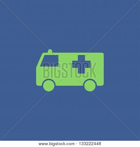 ambulance icon. Flat design style eps 10