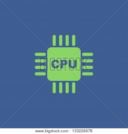 Circuit board icon. Technology scheme square symbol.