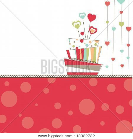 Valentine's background with cake