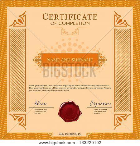 Certificate Vecter Template