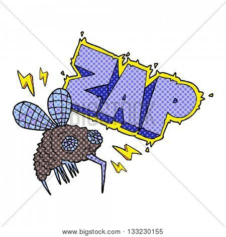 freehand drawn cartoon fly zapped