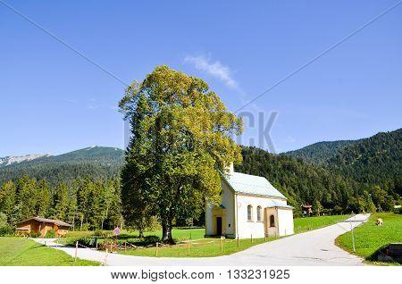 Small Church at the side of AchebseeAchenseehof Tyrol (Austria)