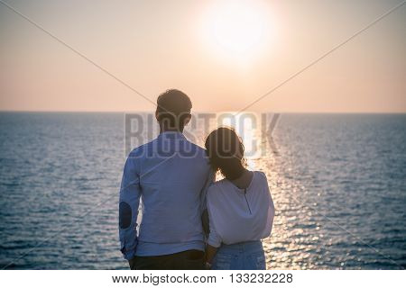 Hipster Photography Style Of Younger Love Couples Vacation Relaxing With Sun Set Sky At Destination
