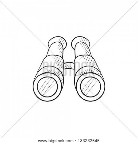 Binoculars vector sketch icon isolated on background. Hand drawn Binoculars icon. Binoculars sketch icon for infographic, website or app.