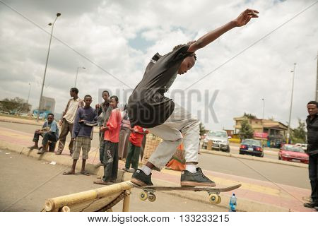 Skateboarding In Addis