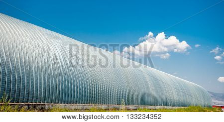 Long storage for grains with the blue sky