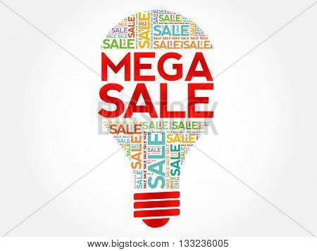 Mega Sale Bulb Word Cloud