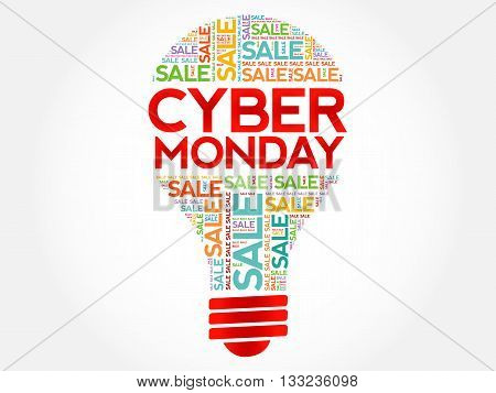 Cyber Monday Bulb Word Cloud