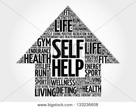 Self Help Arrow Word Cloud