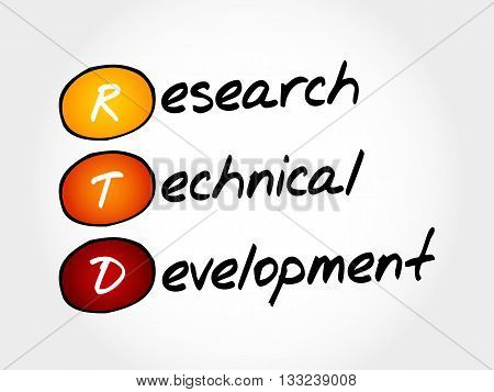Rtd - Research Technical Development