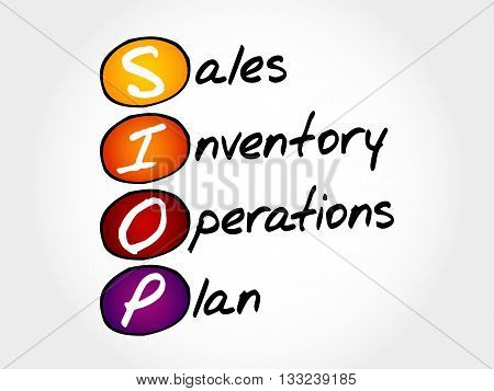 Siop - Sales Inventory Operations Plan
