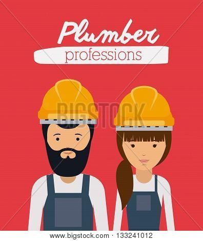 plumber profession  design, vector illustration eps10 graphic