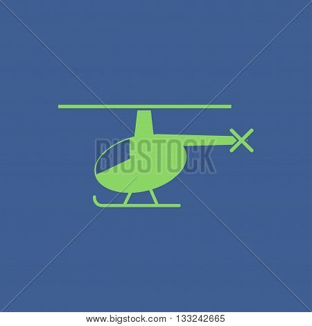 helicopter icon. Flat design style eps 10