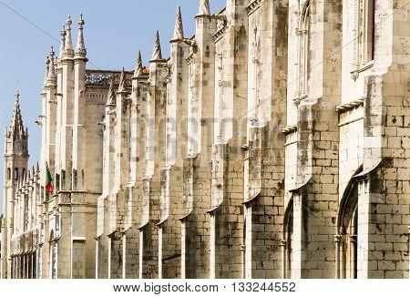 Close up of Hieronymites Monastery Lisbon Portugal