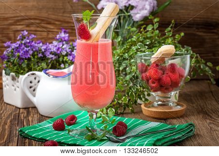 Cocktail With Raspberry.