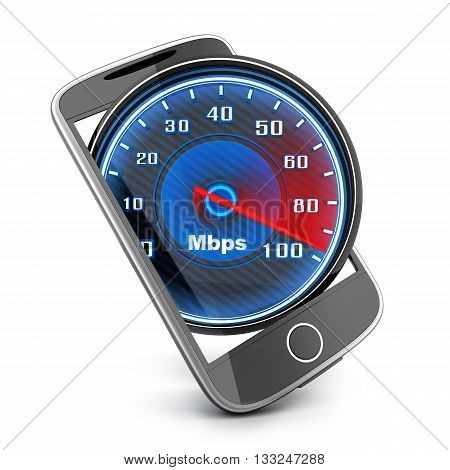 Phone and internet speed (done in 3d rendering)