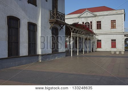 Historic buildings in the old quarter of Antofagasta on the coast of Chile.