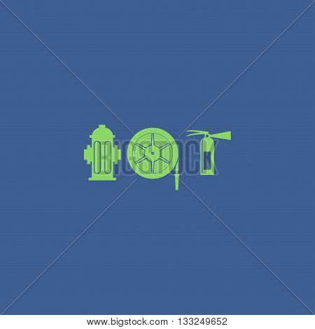 Fire Hydrant And Extinguisher Vector Illustration