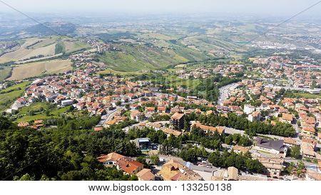 The Republic Of San Marino. General View