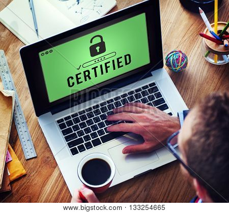 Certified Approved Confimation Guarantee Concept