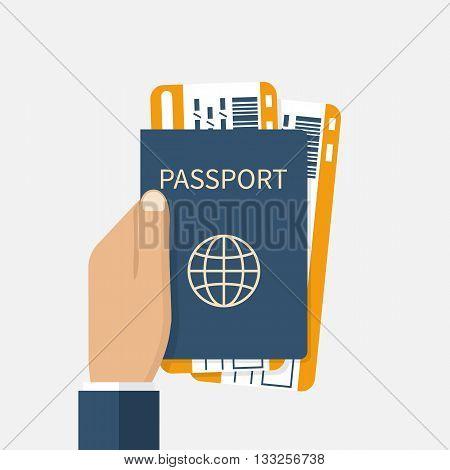 Man Holds Passport