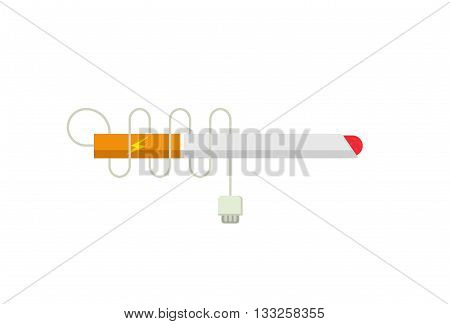 Electronic cigarette e-cigarette icon flat modern vector illustration design isolated on white background