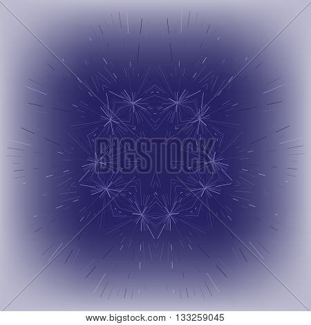 The effect of frost on glass. Vector illustration eps10