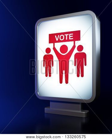 Political concept: Election Campaign on advertising billboard background, 3D rendering