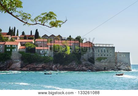 Sveti Stefan island in Adriatic sea. Montenegro.