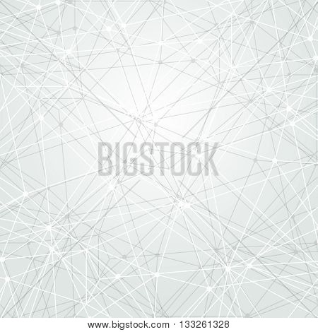 Abstract light tech background. Connection concept. Polygonal wallpaper. Science background. Bright vector wallpaper. Technology background.