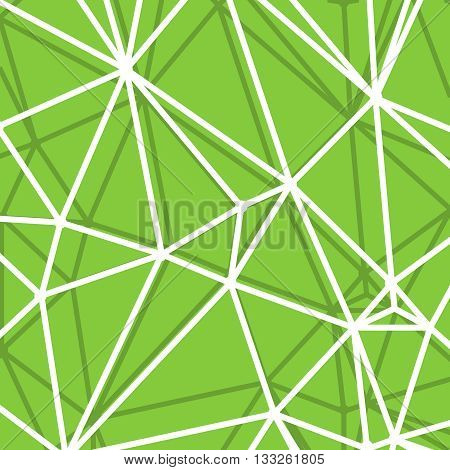 Abstract Green Background with big Lines Stripes, Abstract Connection Net Concept.