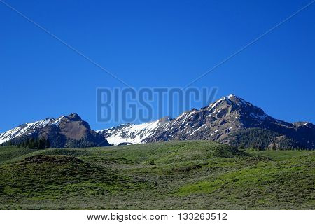 Idaho's Boulder Mountains are located near Ketchum and Sun Valley.