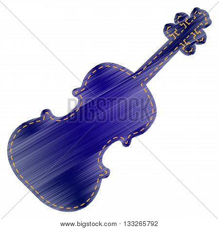 Violine sign illustration. Jeans style icon on white background.