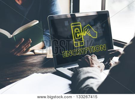 Encryption Online Network Technology Graphic Concept
