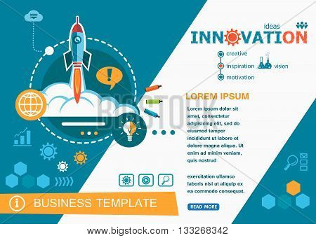 Innovation design concepts of words learning and training. Innovation flat design banners for website easy to use and highly customizable.