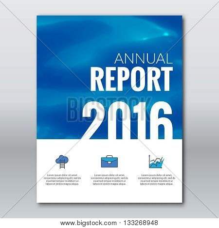Cover Annual Report Business Colorful Water Surface Design Background, Cover Magazine, Brochure Book Cover Template, vector illustration.