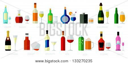 Alcohol Drinks Glasses Icon_2
