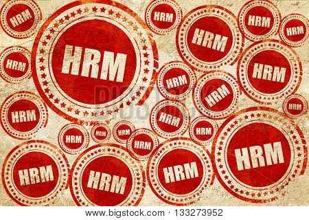 hrm, red stamp on a grunge paper texture
