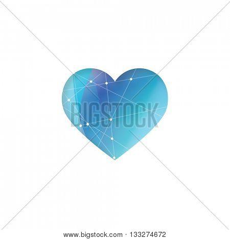 Blue heart - symbol, design element