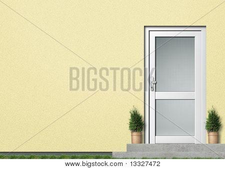 yellow house facade