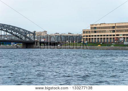 Wideview Of Bolsheohtinsky Bridge