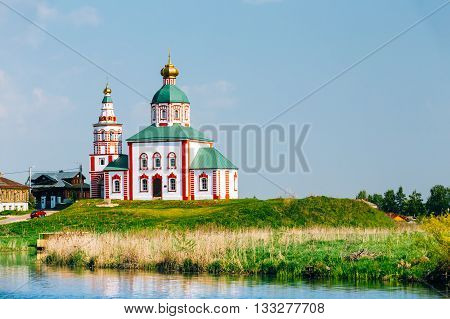 Church Of Elijah The Prophet Or Elias Church In Suzdal, Russia. Built In 1744. Golden Ring Of Russia
