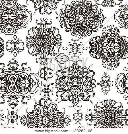 Classical luxury old fashioned damask ornament royal victorian seamless texture for wallpapers textile wrapping. Coloring book for kids and adults. Vector damask seamless pattern element.