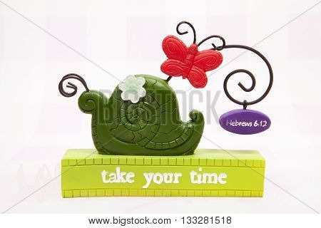 A take your time decoration for the Easter holiday