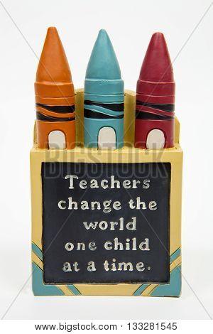 A teacher appreciation decoration against a white background