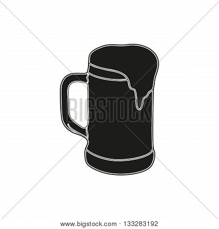 Simple black beer or ale icon style. Beer icon art. Beer icon web. Beer icon new. Beer icon best. Beer icon shape. Beer icon sign. Beer icon big. On a white background