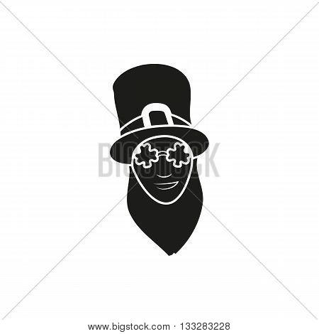 Funny Vector illustration in modern flat design Saint Patricks day character leprechaun run with beer and pot. Irish style