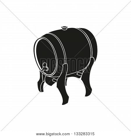 Black keg of irish ale simple icon on white background
